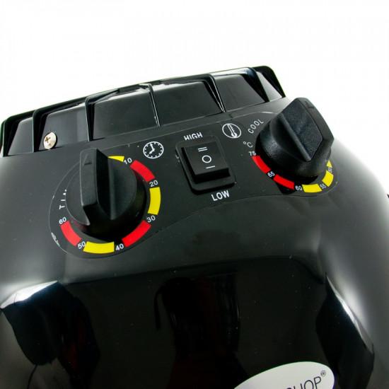 Sušiaca helma na vlasy na statíve Gabbiano LI 202S, 2 úrovne fúkania, čierna
