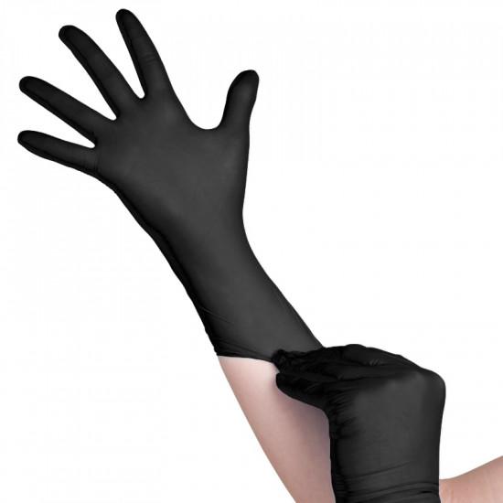 All4Med jednorázové nitrilové rukavice čierne S 100 ks