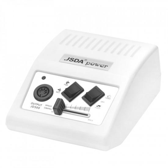 JSDA Brúska na nechty JD500 biela + UV LED Dual lampa SUN 5 plus