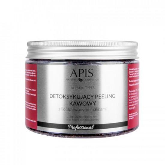 APIS Detoxikujúci kávový peeling, malina 300 g