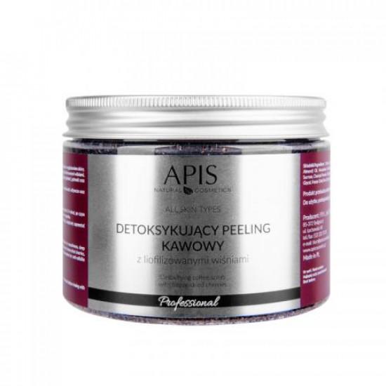 APIS Detoxikujúci kávový peeling, višňa 300 g