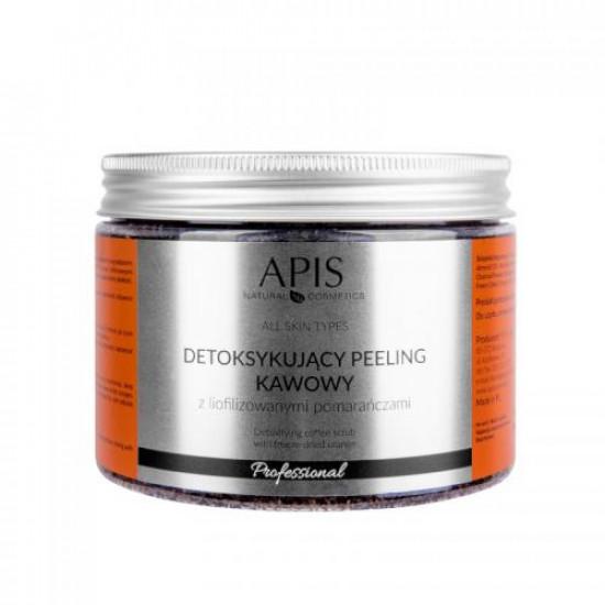 APIS Detoxikujúci kávový peeling, pomaranč 300 g