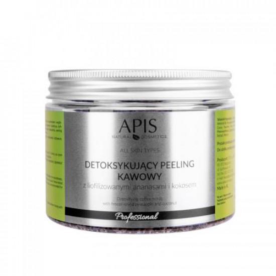 APIS Detoxikujúci kávový peeling, ananás 300 g