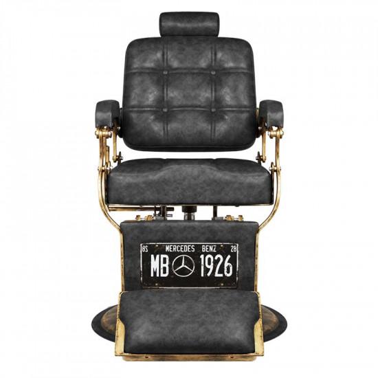 Gabbiano barberské kreslo Boss MB Old Leather čierne