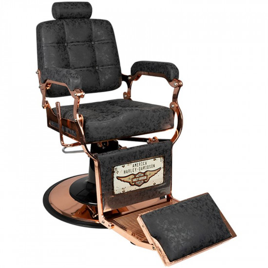 Gabbiano barberské kreslo Boss HD Old Leather meď