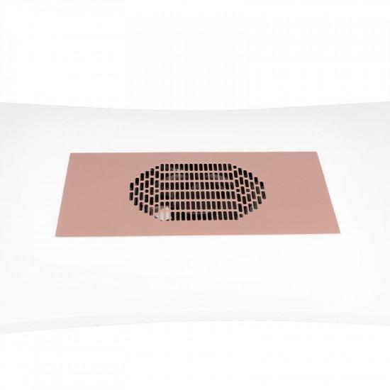 Vstavaná kazetová odsávačka prachu na nechty MOMO S41 ružová-zlatá