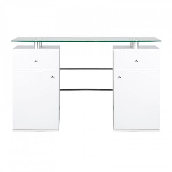 Stôl na manikúru Glass MT-33 biely
