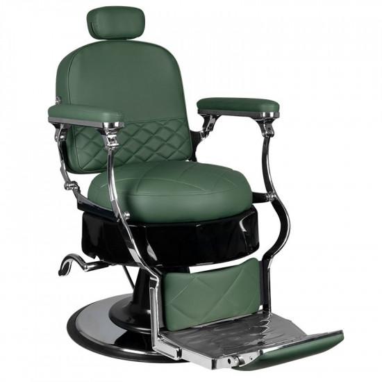 Barberské kreslo Vito zelené