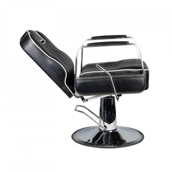 Barberske kreslo Gabbiano Matteo čierne