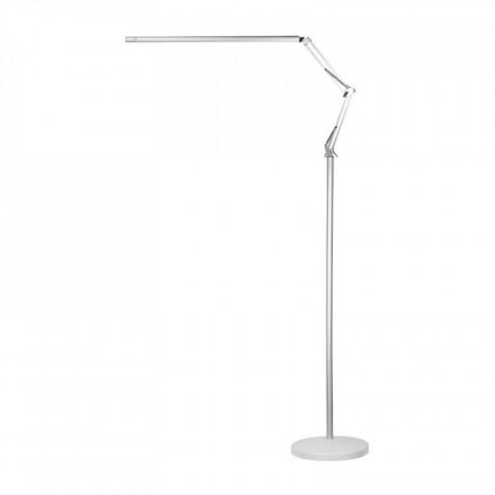 Kozmetická pracovná lampa LED All4Light Lashes Line 2 na statíve strieborná