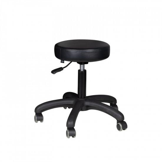 Kozmetická taburetka AM-303-2 čierna