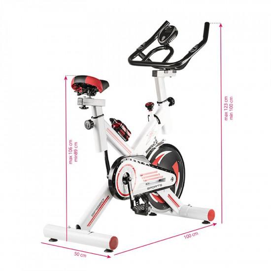 Spiningový tréningovÝ bicykel Magneto 18 biely