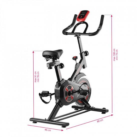 Spiningový tréningový bicykel Magneto 01 čierny
