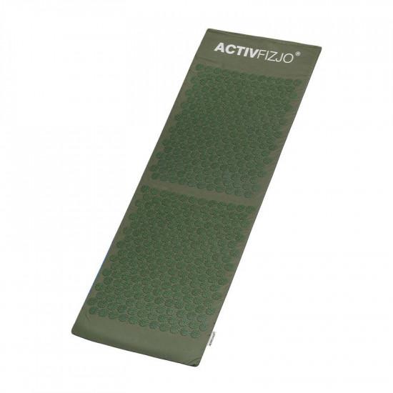 Veľká akupresúrna podložka ActivFizjo Basic tmavo-zelená s vankúšom