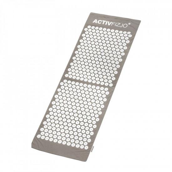 Veľká akupresúrna podložka ActivFizjo Basic sivo-biela s vankúšom