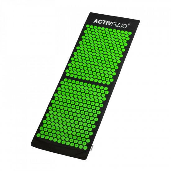 Veľká akupresúrna podložka ActivFizjo Basic čierno-zelená s vankúšom