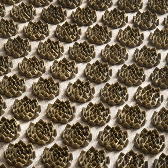 Akupresúrna podložka ActivFizjo premium natural béžovo-zlatá s vankúšom