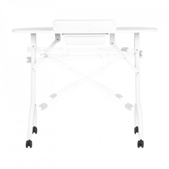 Prenosný manikérsky stôl biely s taškou