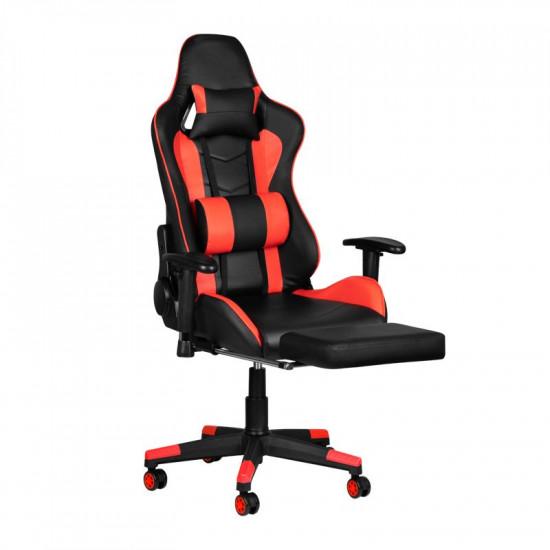 Herná stolička Premium 557 s podnožkou červená