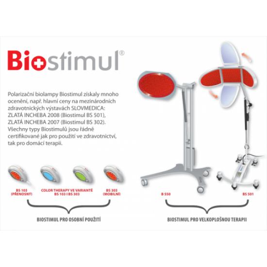 Biolampa Biostimul B 550 + lôžkový polohovateľný stojan